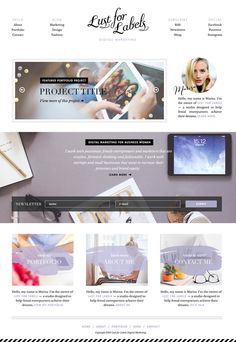 A pretty simple, minimal landing page for a digital marketing freelancer who helps other female creatives, entrepreneurs and small businesse #creative #marketing #white #clean #website #digital #entrepreneur