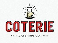 Coterie #logo #catering #branding #company
