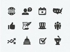 Dribbble - Politics Icons by Scott Dunlap #illustration #vector #icons