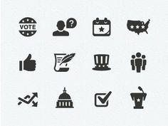 Dribbble - Politics Icons by Scott Dunlap #illustration #vector #icons