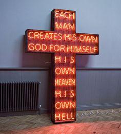 W E L L ※ F E D #cross #neon