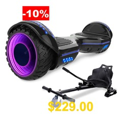 Self #Balancing #Scooter # #Hoverboard #6.5 #with #Hoverkart #Adjustable #LED #Wheel #and #Built-in #Bluetooth