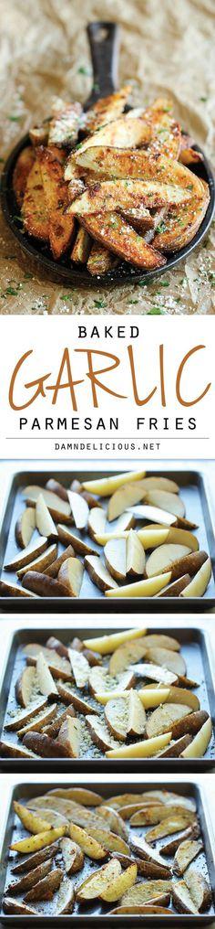 Garlic Parmesan Fries #parmesan #garlic #fries