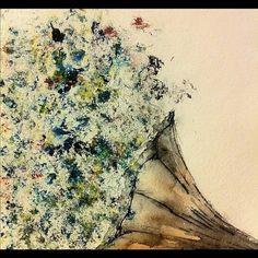 Instagram #watercolor #flowers