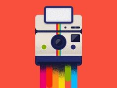 Dribbble - Color Leak by tamer koseli #camera #illustration #vintage