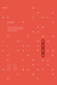 K.I.S.S. – The Principles of Development poster serie by Gen Design Studio