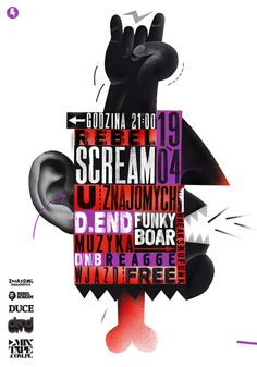 REBEL SCREAM POSTER / 2013 on Behance #poster
