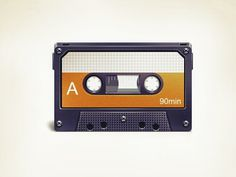 Dribbble - Cassette Tape by Vlademareous #music #audio #cassette