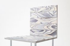 Nendo. Alcantara wood collection, a material made out of layered textiles.