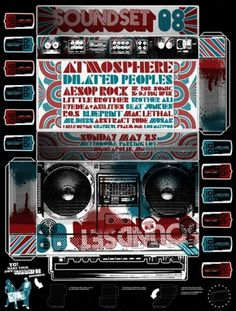 GigPosters.com - Atmosphere - Dilated Peoples - Brother Ali - Little Brother - Aesop Rock #print #gig #soundset #poster