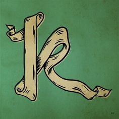 FFFFOUND! #lettering #letter #cap #drop #ribbon #type #drawing