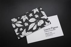 Business cards on Behance #leaves