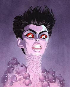 "Julian Callos Illustration (""Choose the form of the Destructor."" Acrylic and...) #ghostbusters #fantasy #ghost #gozer #baddie #illustration #destructor #film #god #evil"