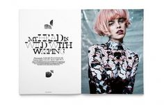 USED ISSUE TWO #display #fashion #type #used #editorial #magazine #typography