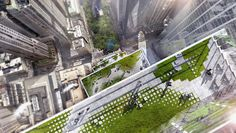 Great pixelated pavers Renderings of BIG-Designed Two World Trade Center Revealed | News | Archinect