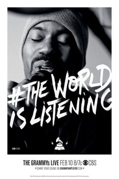 the world is listening portrait 01 #poster