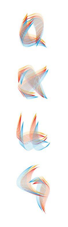 De fil en aiguille / Thread typeface / Version Souple by HorSujet