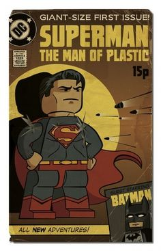 Lego Superman | Flickr - Photo Sharing! #vector #lego #humour #batman #comic #cartoon #superman