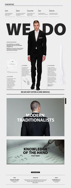 Crane Brothers #website #design