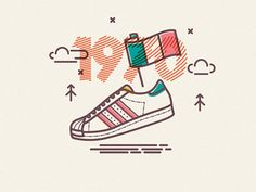 COLOURS AND LINES PART DEUX on Behance #adidas #lines #flag #trainer #icons #superstar #illustration