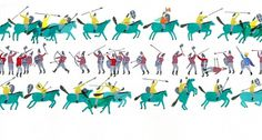 The Battle of Hastings : Charlotte Trounce #of #illustration #battle #hastings