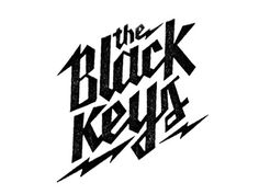 Dribbble - The Black Keys by Erick Montes #type #lettering #logo