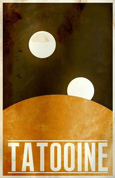 star_wars_poster_minimalist_travel_tatooine #design #graphic #wars #star #poster