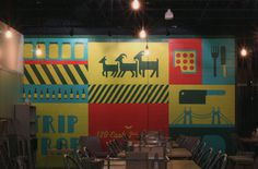 The Gruff mural graphics