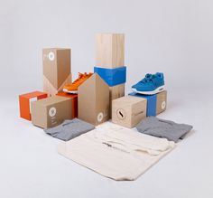 lovely package one percent 18 #shoes #cardboard #print #wood #plastic #trainers