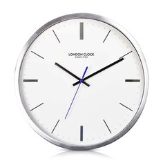London Clock Company 'Vantage' Wall Clock, Silver, 42cm x 6.6cm