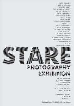 STARE_poster_ecapture.jpg (JPEG Image, 350 × 505 pixels) #print #design #graphic #photography #posters