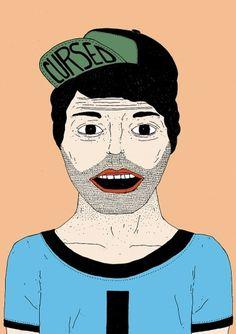 Drawings by Rita Gomes   Art Sponge #drawings #rita #gomes #illustration #portrait #face