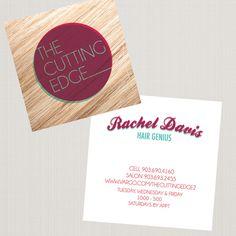 business cards hair dresser | arnold graphic design