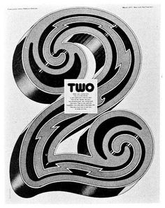 Typeverything.com - 2 byKit Hinrichs. - Typeverything #illustration #typography #numbers