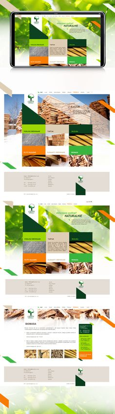 www.laccy.pl on Behance #lumber #sawmill #website #wood #web #www