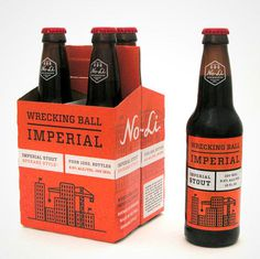 No-Li Wrecking Ball Packaging #packaging #beer #label