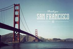 Thank you San Francisco #blue #script #waves #lines #title #bold #header #wheel