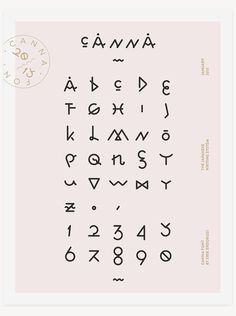 C A N N A . #font #erdokozi #hiragana #erik #type #canna