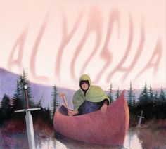 Album Cover, canoe, sword, drawing, cloak