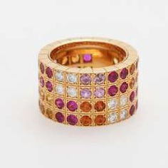 Ladies ring studded with. Color precious stones