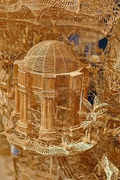 One man, 100,000 toothpicks, and 35 years: An incredible kinetic sculpture of San Francisco » Design You Trust – Social design inspiratio #sculpture #kinetic