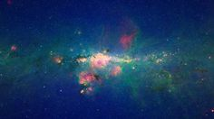Short Sharp Science: Milky Way's crowded heart shimmers in infrared image #sagittarius #infrared #space