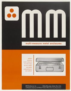 Ladislav Sutnar. MM Multi Measure Metal Enclosures. 1941 1944 #ladislav #sutnar