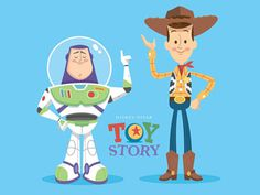 Woodybuzz #retro #illustration #pixar #toy #story