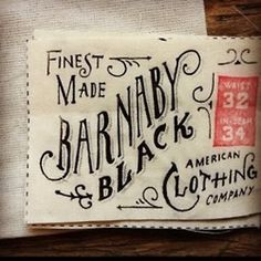 Lovely Clusters #typography #label #clothing #barnaby