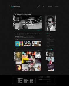 Inzpizine #inspiration #ux #design #black #ui #minimal #art #layout #web #magazine