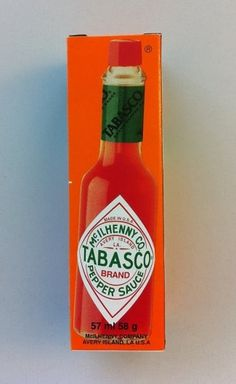 Packaging Design M #packaging #orange #red #tobasco