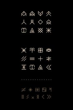 Enfant du Kult   Font on Behance symbols set