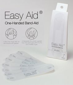 Introducing the Easy-Aid - a bandage that can be applied with simply one hand after self-injection.
