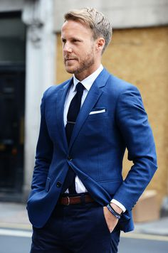 Likes | Tumblr #mens #suiting #fashion #blue #style